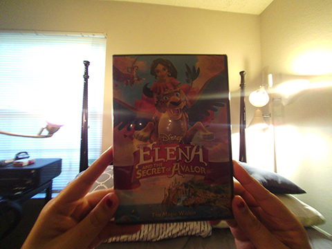 The image shows the cover of a DVD, Elena and the Secret of avalor.